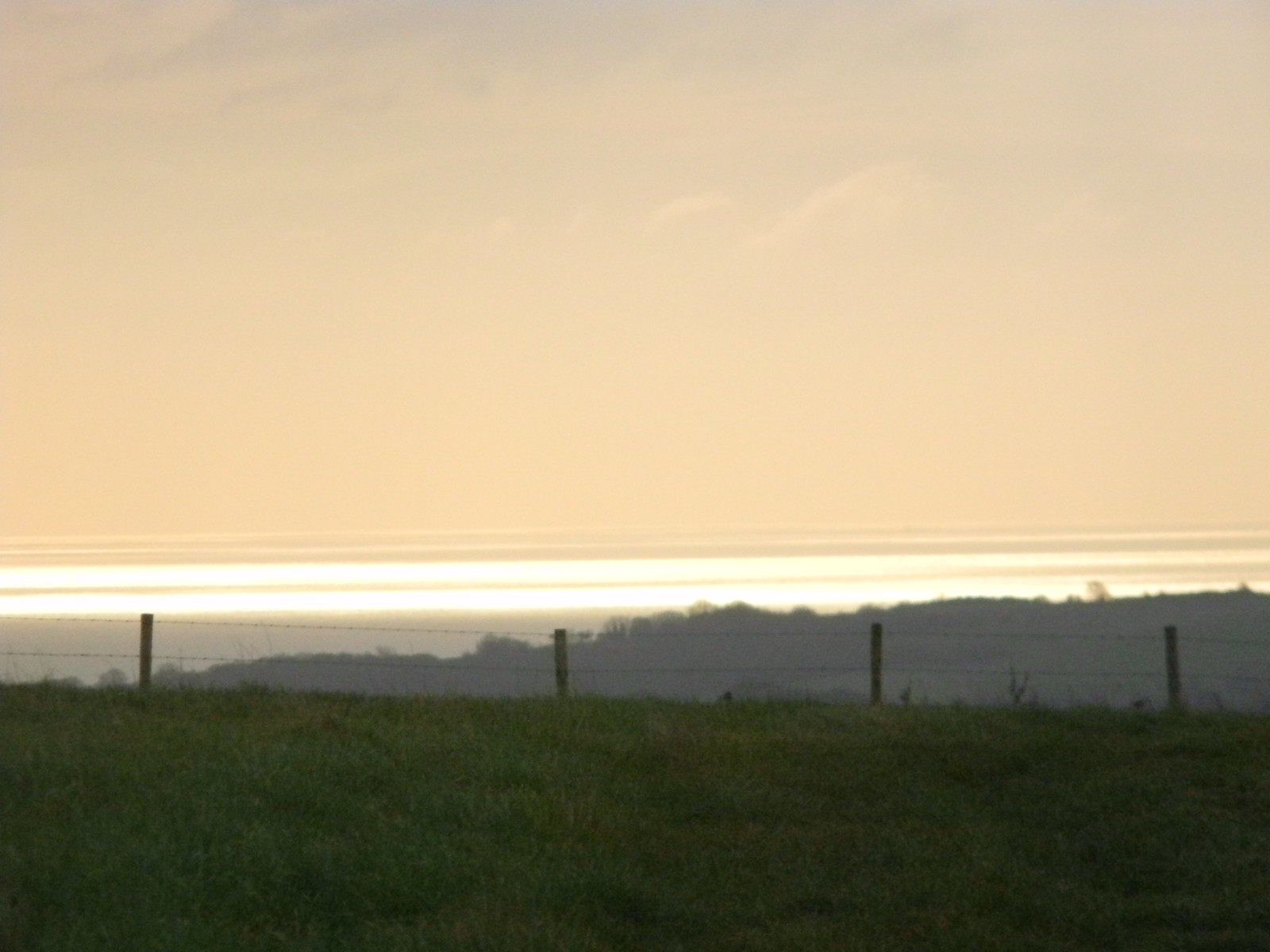 The sea from afar Hassocks to Brighton