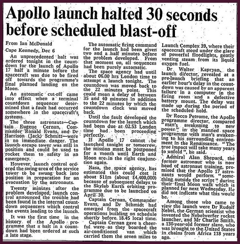 6th December 1972 - Apollo 17 launch failure | by Bradford Timeline