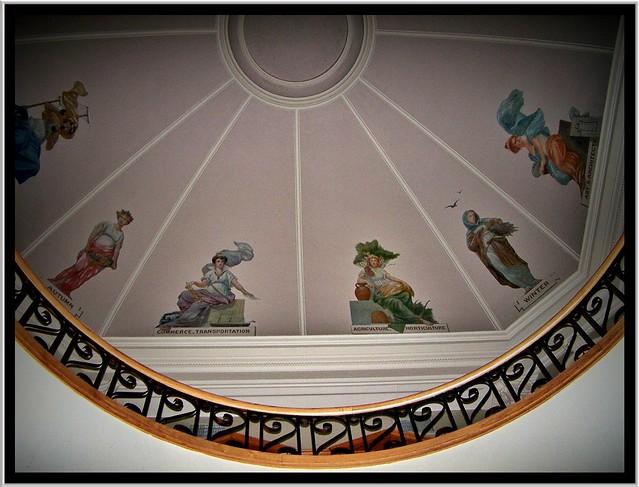 Cass County Court House ~ Fargo ND ~ Interior Dome Murals