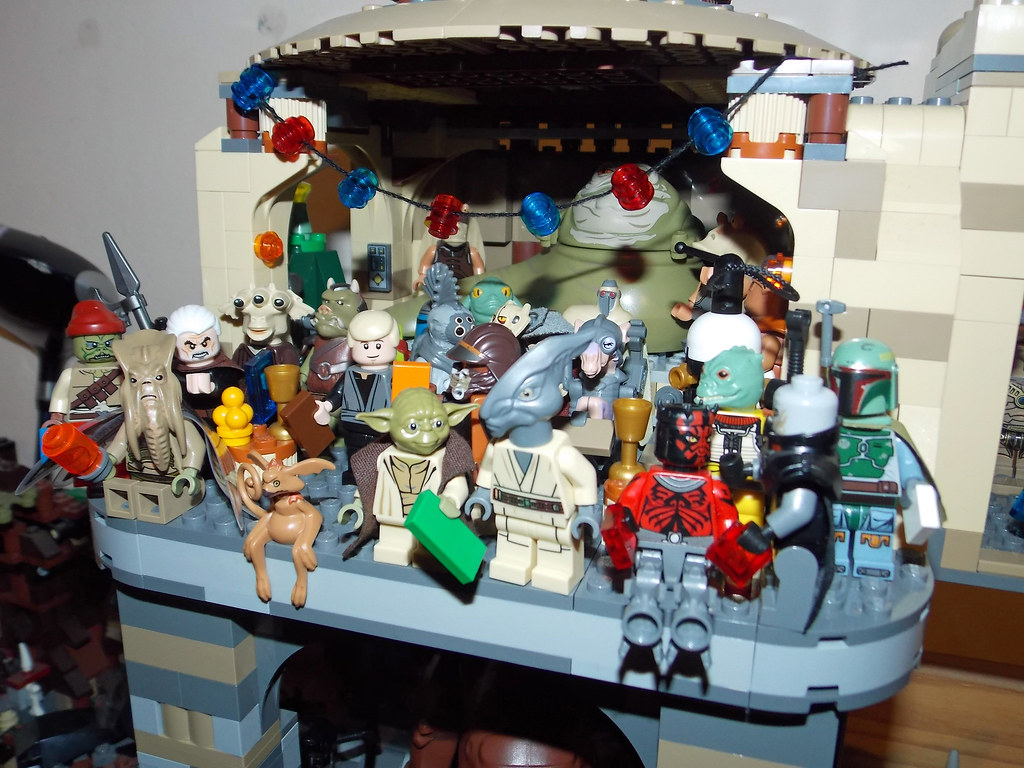 Lego Star Wars Jabbas Palace Christmas Party Close Up Flickr