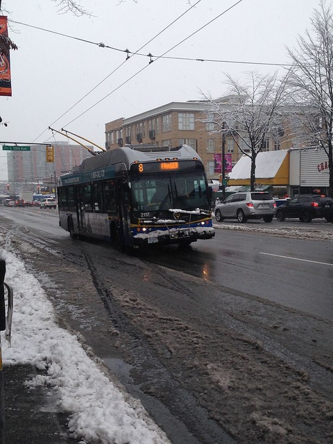 #8 Fraser bus on Main St. south of Broadway