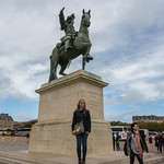 Emily and Louis XIV at Versailles
