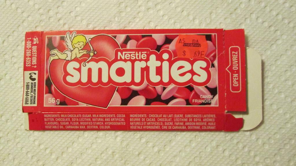 Smarties box-Valentine's 1990s | Smarties box-Valentine's--m