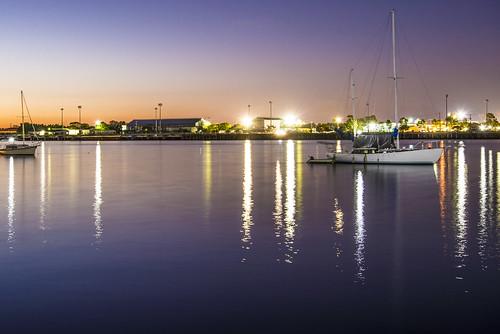 longexposure water night boats lowlight brisbaneriver waterreflections