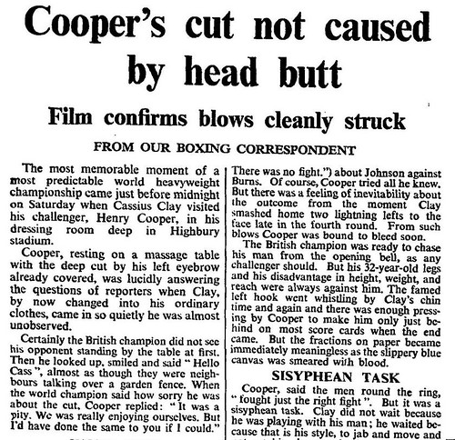 21st May 1966 - Boxing : Cassius Clay v Henry Cooper | by Bradford Timeline