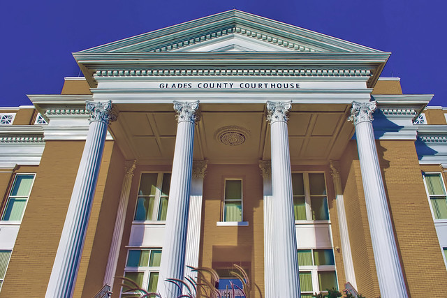 Glades County Courthouse, 500 Avenue J, Moore Haven, Florida, USA / Architect: Edward Columbus Hosford  / Built: 1928 / Architectural Style: Classical Revival