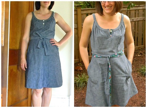 the upcycling project :: adding detail to a dull dress