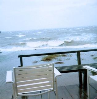 Nov 1985 storm, front yard