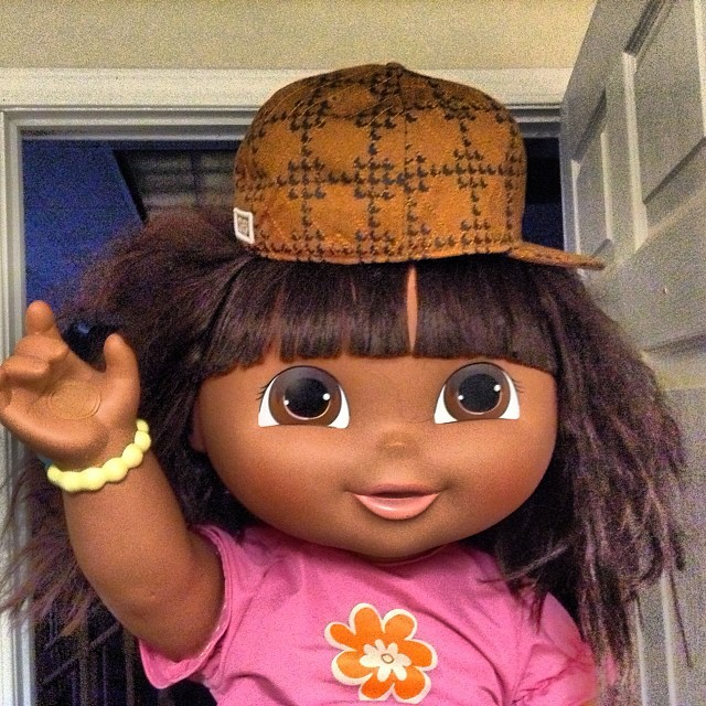 Dora The Explorer Wearing Scumbag Steves Hat This Is The Flickr