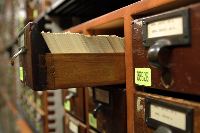 Library of Congress Main Reading Room's Card Catalogue Room