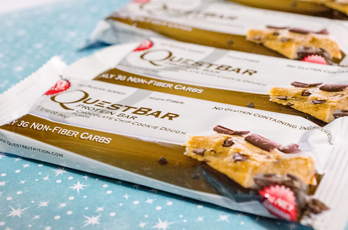 Chocolate Chip Cookie Dough Quest Bars