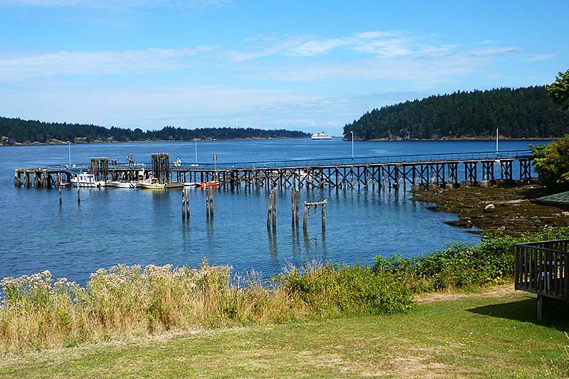 Miners Bay on Mayne Island, Southern Gulf Islands, British Columbia