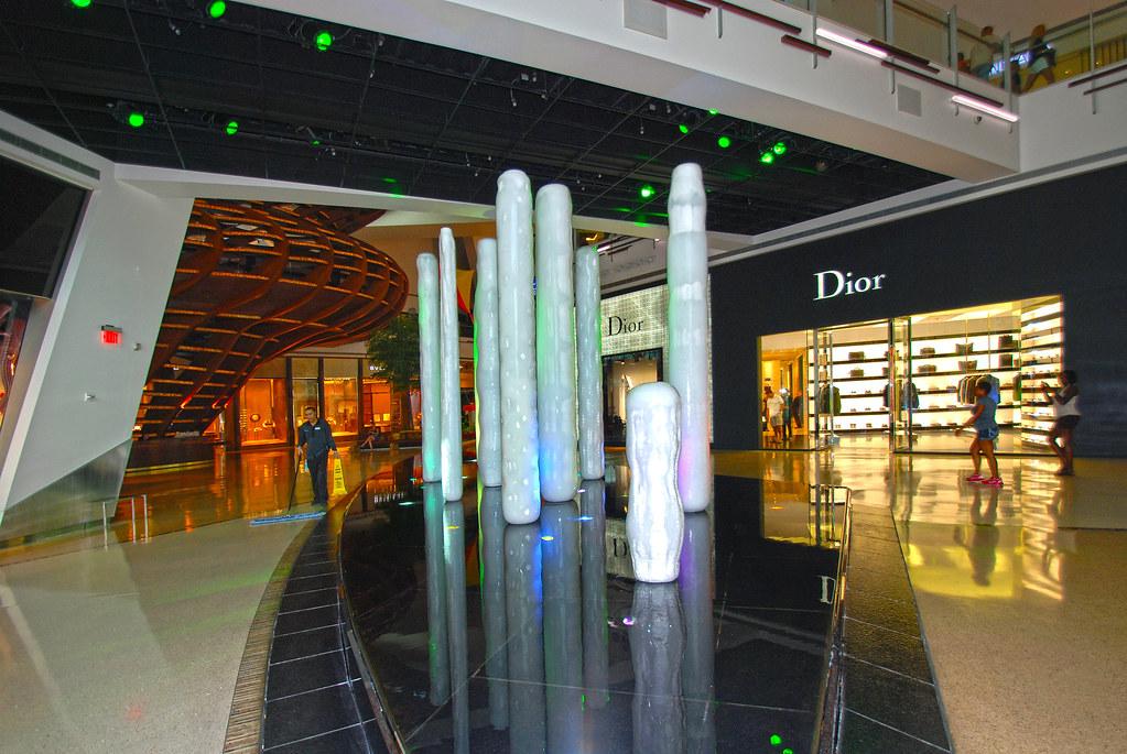 GLACIA FOUNTAIN -The Shops at Crystals  Aria Las Vegas NV