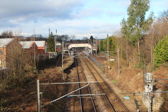 Footbridge Guiseley Station
