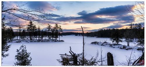 sunset panorama snow unitedstates pano massachusetts hike royalston tullylake winter2013