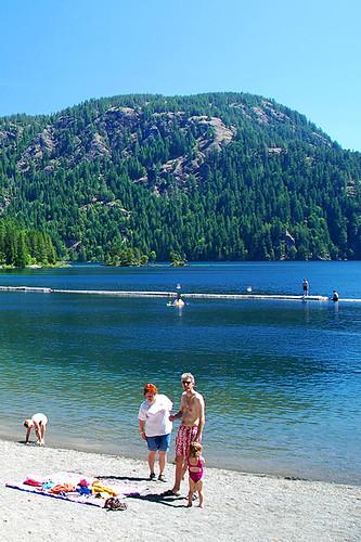 Gordon Bay Park, Cowichan Lake, Cowichan Valley, Vancouver Island, British Columbia, Canada