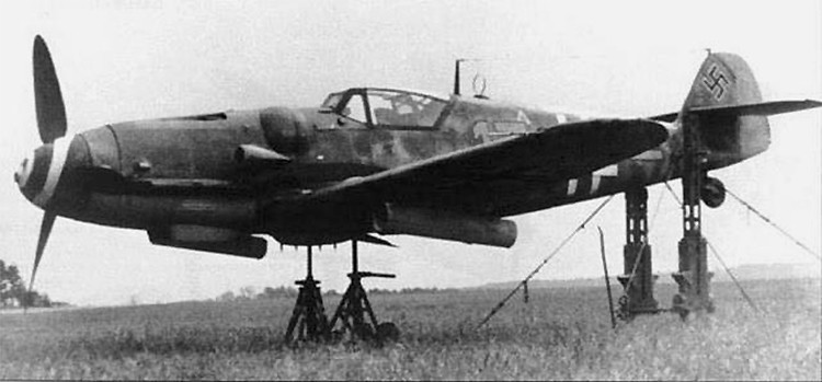 A Messerschmitt Bf 109G-6 of 12./JG 2