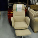 Recliner armchair and footstool