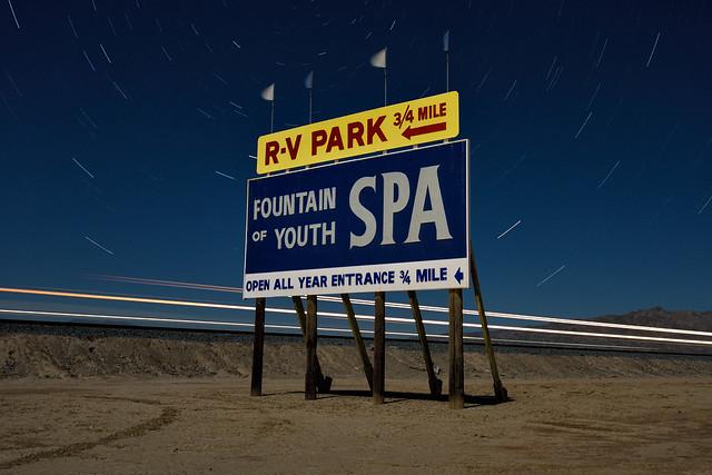 fountain of youth. bombay beach, ca. 2016.