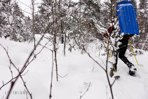 Bush skiing with the incredible rulk | by Joni Palomäki