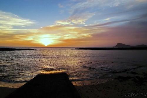sea ocean beach sky water dusk shore sal cabo verde espargos