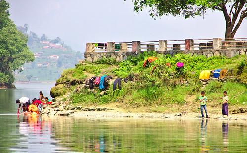 Life on the banks of Phewa Lake