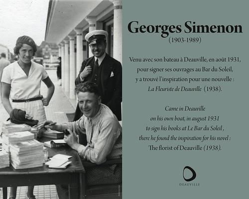 Deauville: plaque Simenon | by Simenon.com