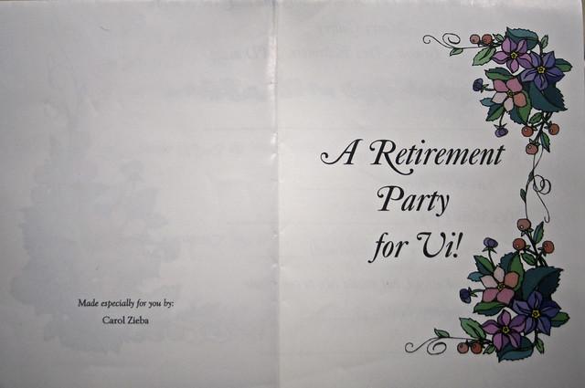Vi's Retirement