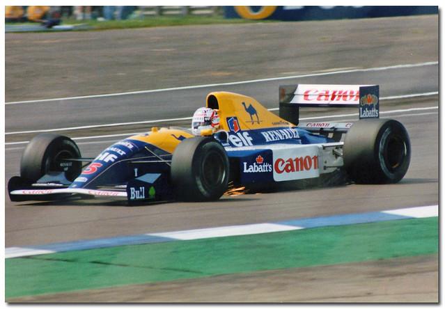 Nigel Mansell Williams Renault FW14 F1. 1991 British GP Silverstone.