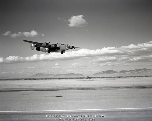 B-24 Landing in Blythe November 1943 | by John Funk from Golden Colorado
