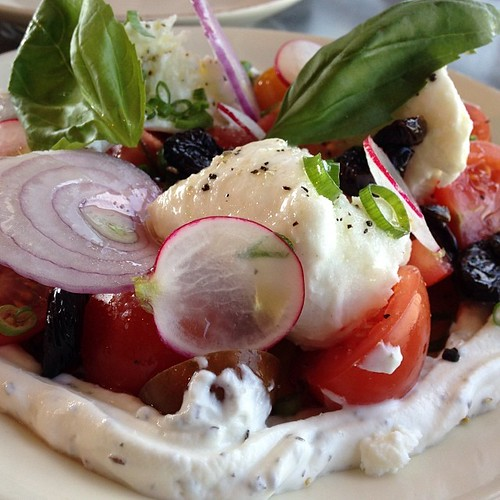 Tomato and mozzarella salad. | by WordRidden