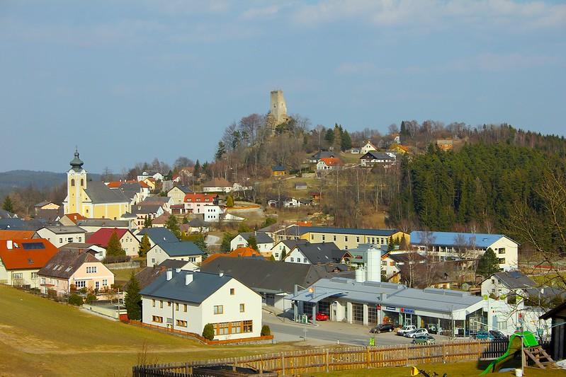 Arbesbach. Ort. Burgruine