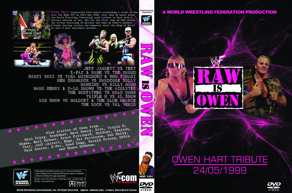 Wwf Owen Hart Raw Is War Tribute Dvd A Diy Dvd Cover For T Flickr