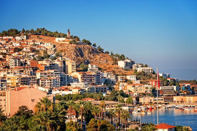 Panoramic view of Kusadasi, Turkey