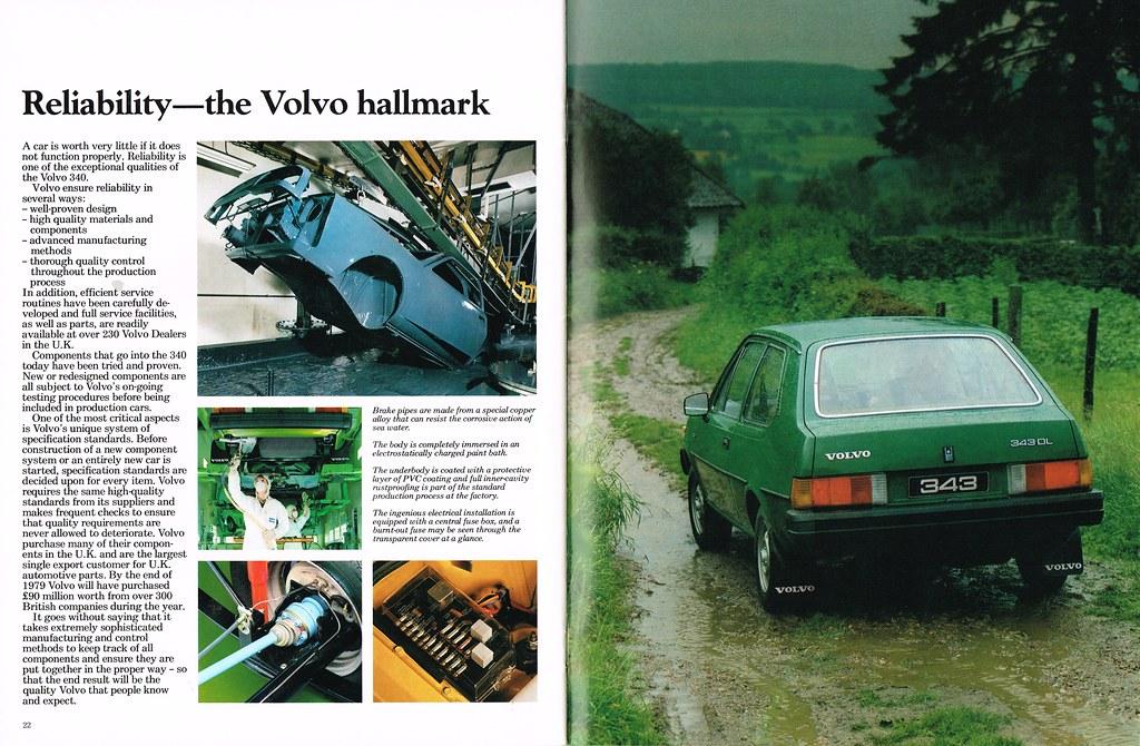 volvo 340 series 1980 brochure 22 23 reliability al walter isuzu fuse box volvo 340 fuse box #11