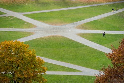 autumn fall campus dartmouth thegreen bakertower