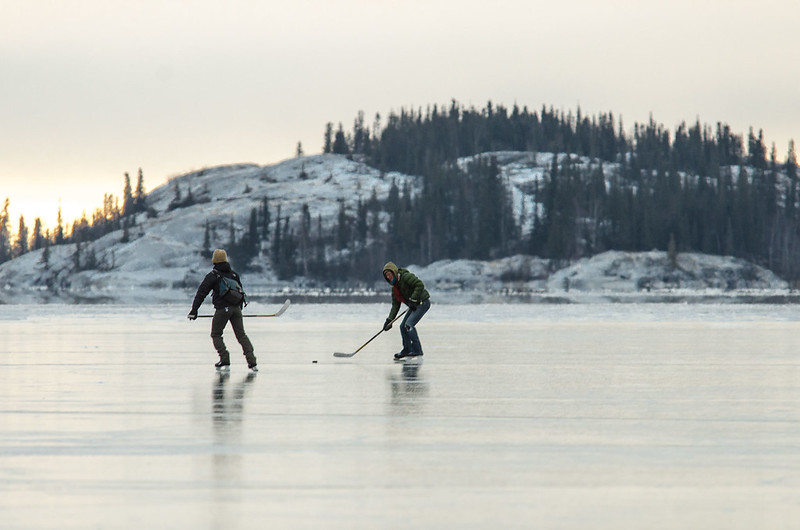 Hockey on Great Slave Lake