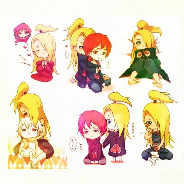 My sweet and kawaii Dei-chan with Sasori-kun!!! XD