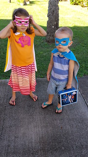 Superheroes at the Playground