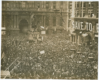First News of Peace! Confetti thrown by happy crowds. Liberty sings. Flags waved. Nov. 11-1918. | by Library Company of Philadelphia