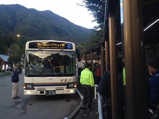 木曽駒ヶ岳 菅の台バスセンター 駒ヶ岳ロープウェイ駅行 バス | by ichitakabridge