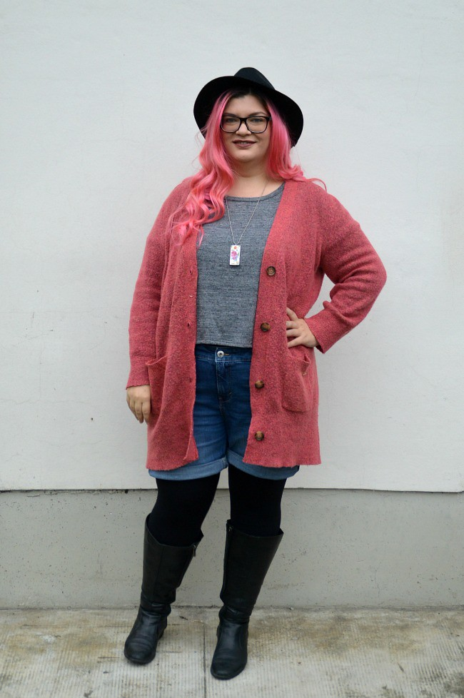 3612228e9e8a Plus size hipster outfit   Top - Pink Clove Cardigan - Viole…   Flickr