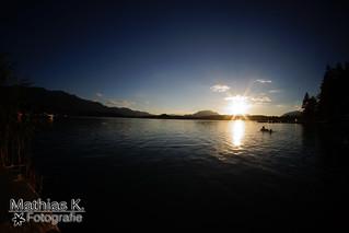 Sonnenuntergang beim Faaker-See