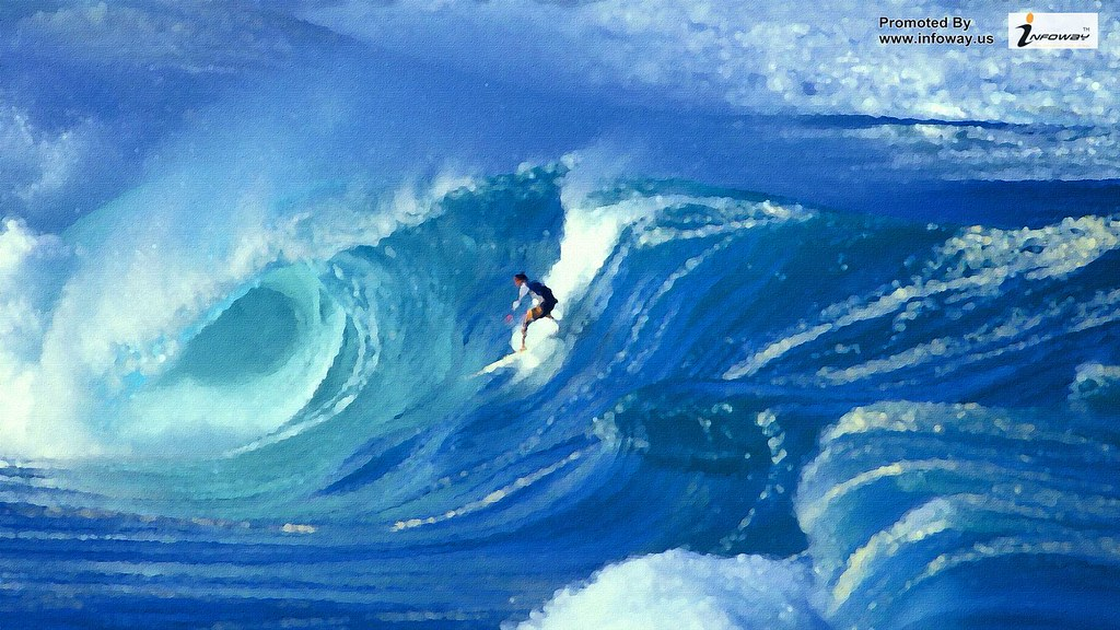 Surfing On The Big Wave Wallpaper Surfing On The Big Wave