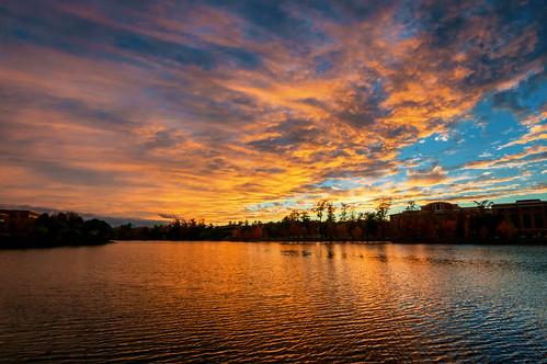 autumn sunset sky fall day cloudy