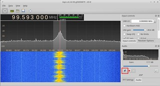 The network streaming button in gqrx. | by csete