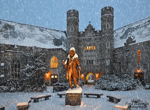 snow statue sunrise pennsylvania westchester chestercounty frederickdouglass westchesteruniversity