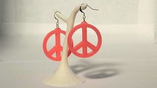 Peace and Love earings | by objets3d