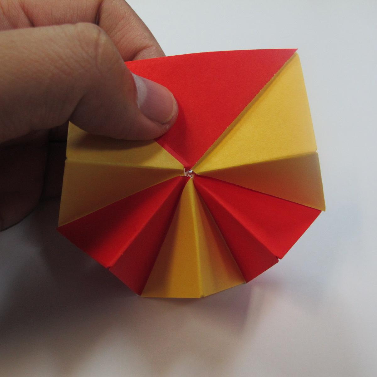 วิธีการพับกระดาษเป็นดาวหกแฉกแบบโมดูล่า 020