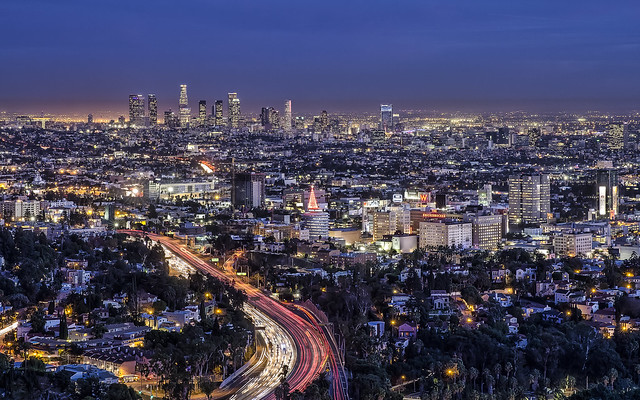 Los Angeles from Hollywood Bowl Overlook at Night